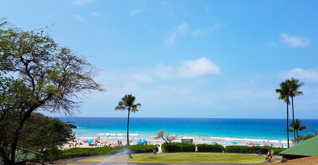 The Park Is Free, But Non Residents Need To Pay $5 To Park. Hereu0027s A  Panoramic View Of Hapuna Beach For Your Enjoyment.
